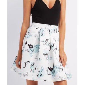 Charlotte Russe Full Floral Skirt